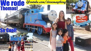 Riding the Real THOMAS the TANK ENGINE! Thomas and Friends. Day Out with Thomas 2018!