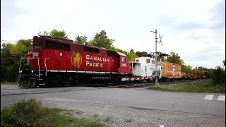 CP Work Train meets CP tanker with Unstoppable unit !