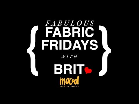 Fabulous Fabric with Brittany Haas - 10/23/15