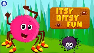 ITSY BITSY SPIDER Fun Game Phonics Song????️????️ for kids | Play the Itsy Bitsy Spider game Cartoon Video