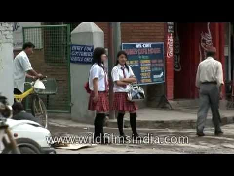 Smartly attired school girls in Kathmandu