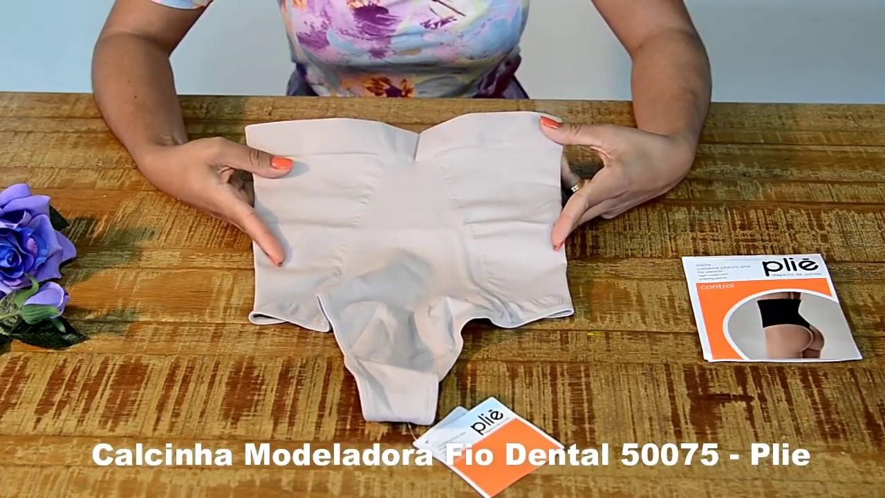 bc90154bc Calcinha Modeladora Fio Dental 50075 PLIE - Le Lingerie - YouTube