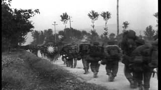 Download Video British foot soldiers march on roads outside Salerno Italy and advance personnel ...HD Stock Footage MP3 3GP MP4