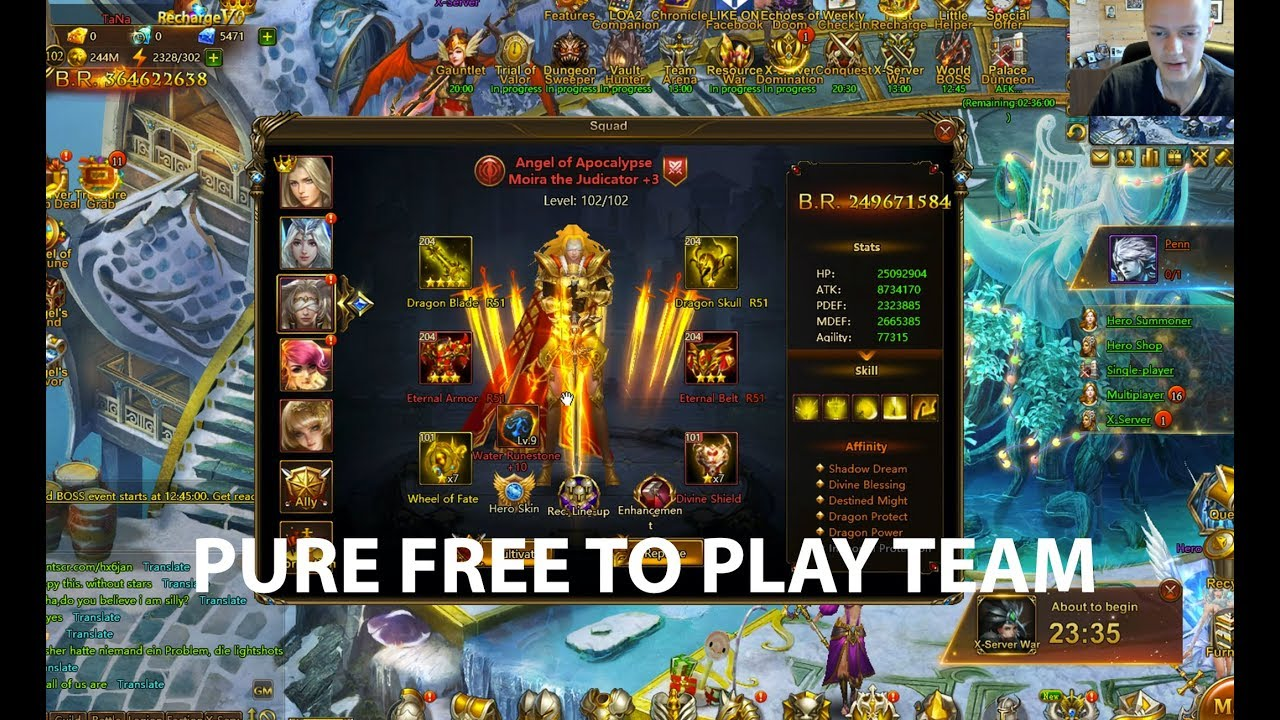 SUPER GOOD FREE TO PLAY SETUP in League of Angels 2