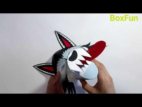 How to make Halloween Wolf Mask - DIY