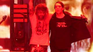 Скачать Helter Skelter Rob Zombie Marilyn Manson PNC Bank Arts Center Holmdel NJ 7 24 18