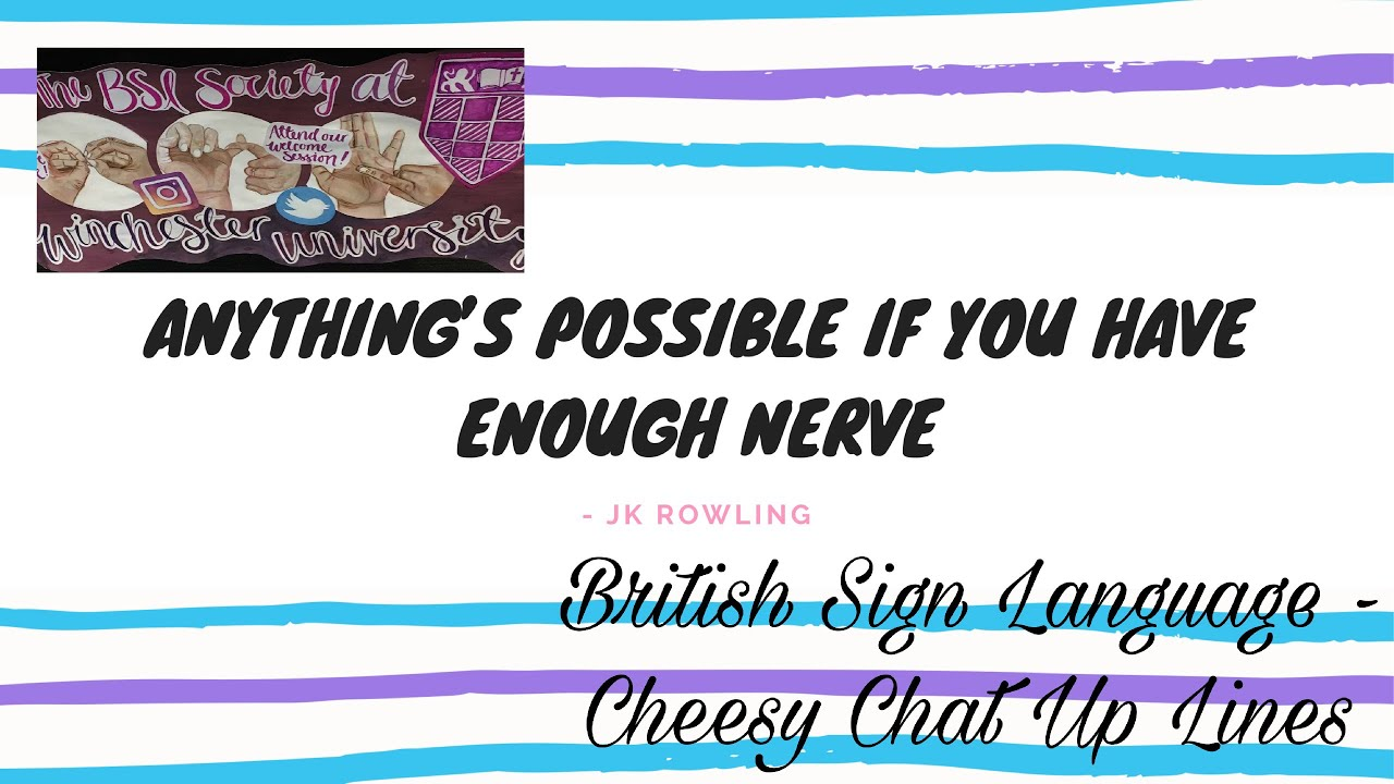 BSL Cheesy Chat Up Lines - YouTube