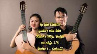 Hướng dẫn học guitar bài 8: Valse 1 Carulli