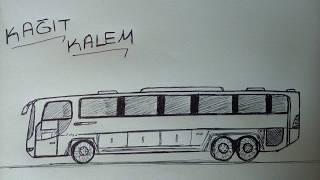 Otobüs Nasıl Çizilir? | How To Draw A Bus? - ÇOK KOLAY