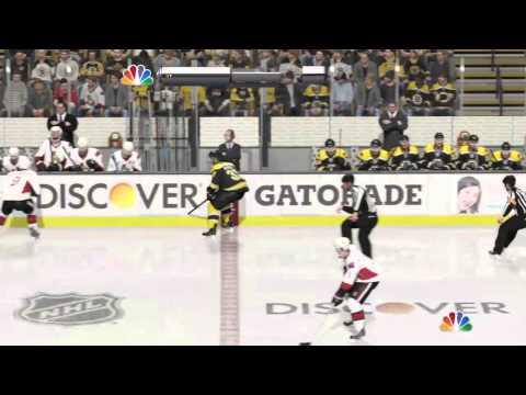 Nhl15 GM Mode Playoffs Ottawa @ Boston game 1