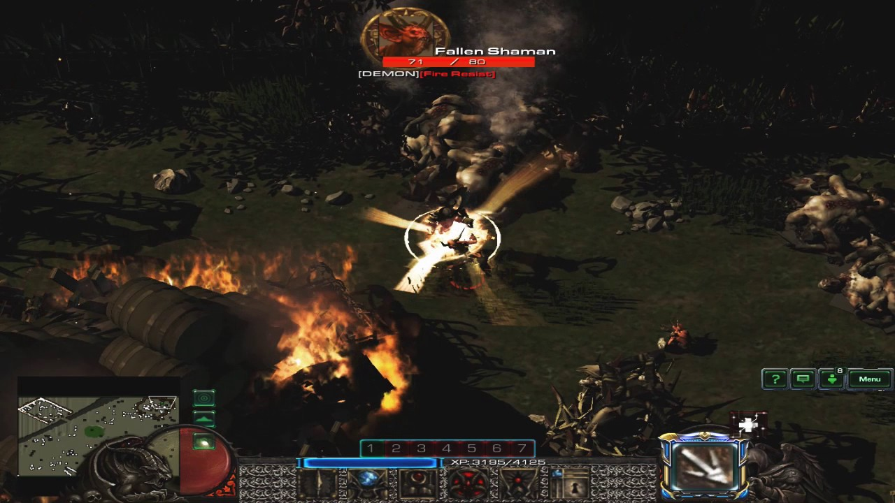 Diablo 2 Remake on Starcraft 2 Engine! PART1 - Tristram - YouTube