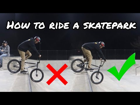 HOW TO RIDE A SKATEPARK FOR BEGINNERS!