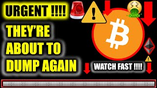 ⚠️ THEY'RE ABOUT TO DUMP BITCOIN AGAIN!!!? ⚠️Crypto Price Analysis TA/ BTC Cryptocurrency News Today