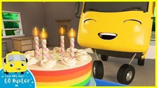 Happy Birthday Song! | Go Buster | Baby Cartoons | Kids Videos | ABCs and 123s