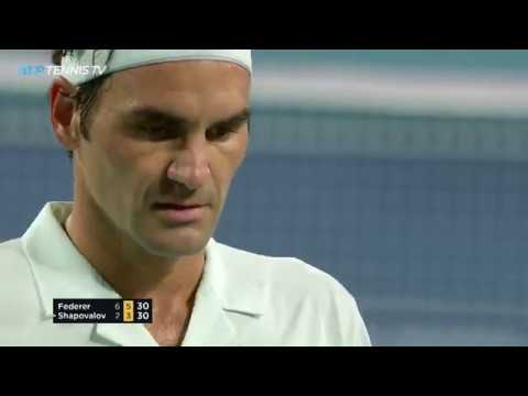 Roger Federer v Denis Shapovalov: Best Shots and Rallies | Miami Open 2019