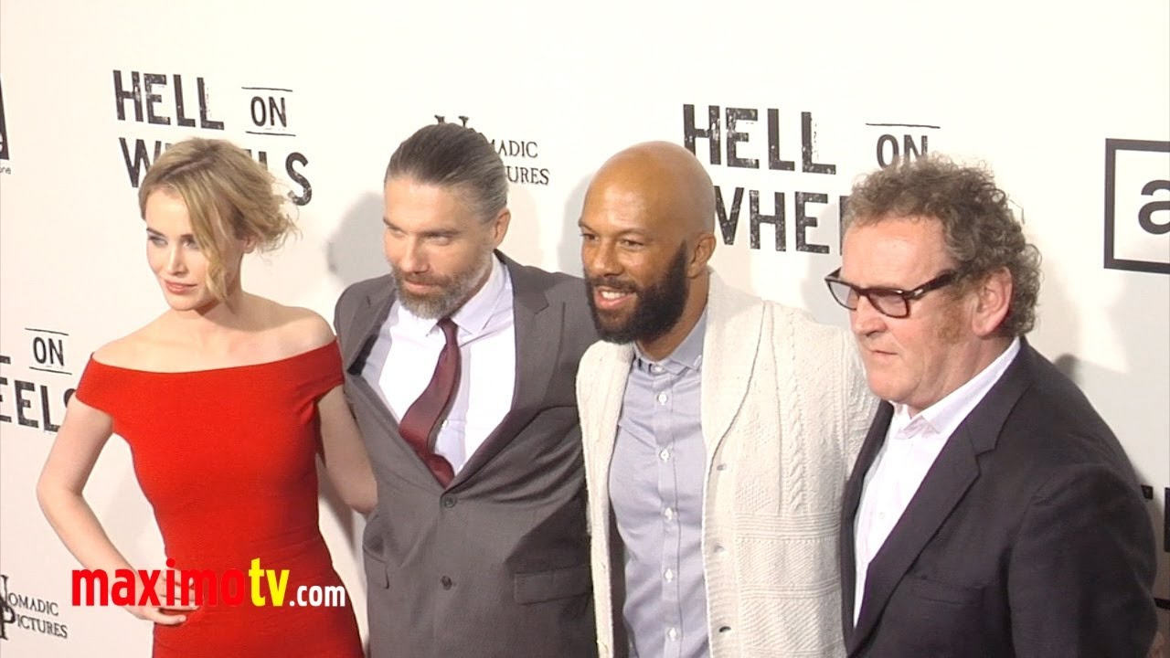 "Download Hell On Wheels"" Season 2 Premiere Arrivals Anson Mount, Common, Dominique McElligott"