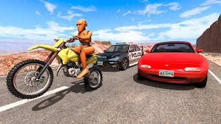 Motorbike Crashes #4 - BeamNG DRIVE | SmashChan
