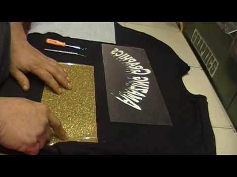 How To Apply Amazing Graphics With Iron On Glitter Vinyl