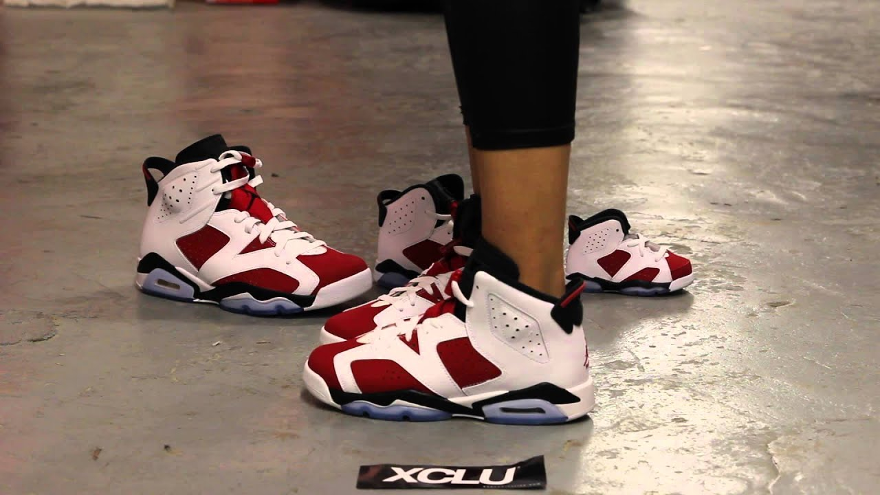 Air Jordan Retro 6 Carmin Gs