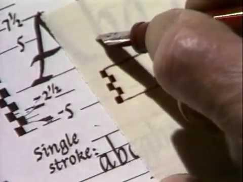 Lloyd Reynolds' Italic Calligraphy & Handwriting Episode 1 - Calligraphy Heritage of Reed College
