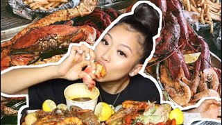 JUICY SEAFOOD BOIL MUKBANG (Lobster, King Crab Legs, Mussels, Clams & MORE)