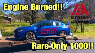 Rebuilding a Burned 2015 Subaru STI Launch Edition From IAAI Salvage Auction Like Copart