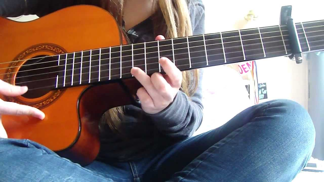 Brandi Carlile The Story Solo Part Guitar Cover Youtube