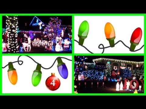 Best Christmas Lights, Holiday Homes Tour! (Outdoor Lights)