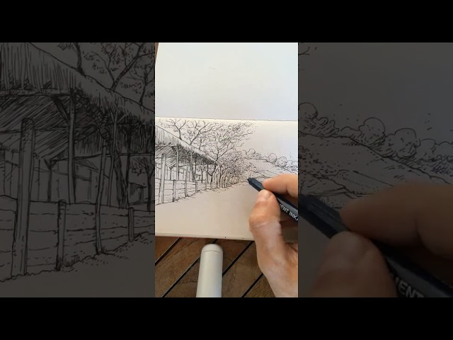 moleskine sketch time-lapse