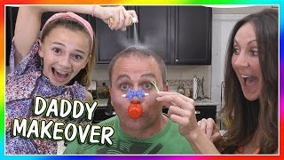 A DADDY MAKEOVER USING WEIRD BEAUTY PRODUCTS | WE ARE THE DAVISES