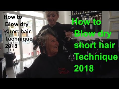 How To Blow Dry Short Hair Technique 2018 Fohnen Kort Haar Best