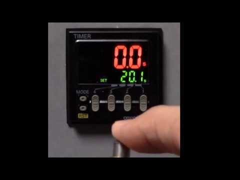 Omron H5CX_N Digital Timer Basic Function Programming on