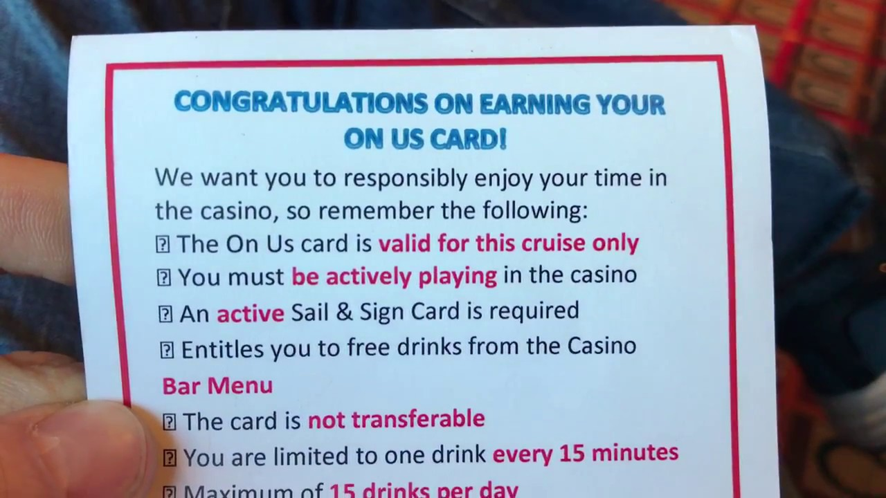 Free drinks casino carnival cruise lakeside in and casino