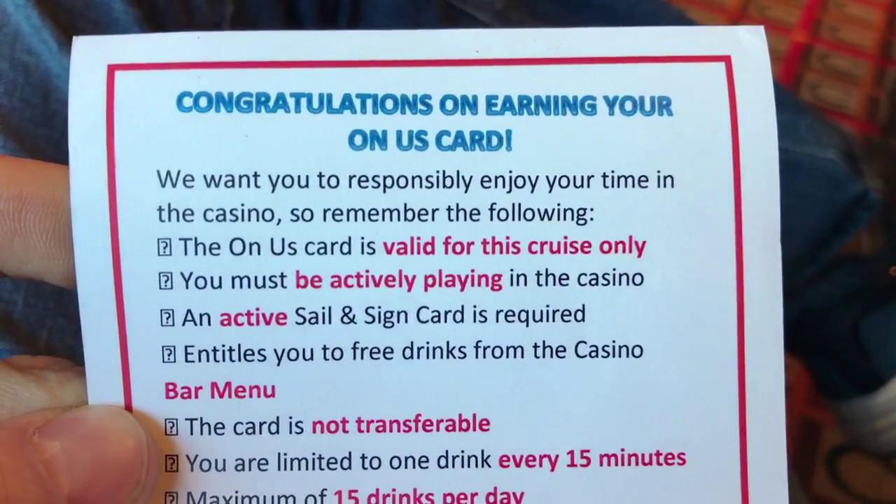 Carnival Free Drinks In Casino