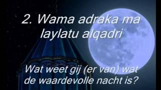 097 Surah Al Qadr nederlandse vertlaing