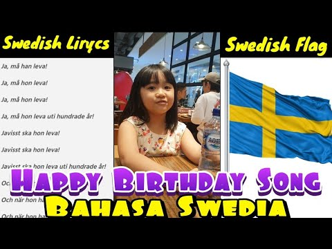 Nyanyi Happy Birthday Song Bahasa Swedia