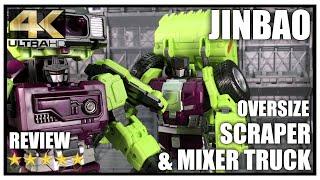 Jinbao Oversized Gravity Builder Devastator Scrapper & Mixmaster Set B