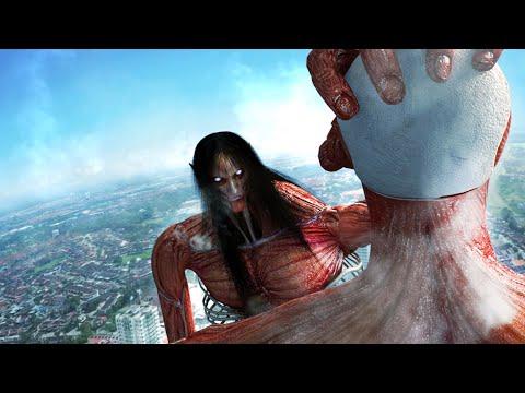Eren Founding Titan FINAL FROM Vs Armin Colossal Titan In Live-action