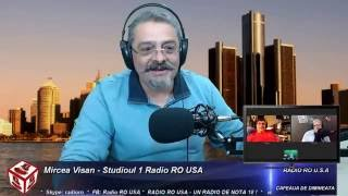 Radio RO USA - Cafeaua de Dimineata - Invitat Andrei Partos - 10.8.2016