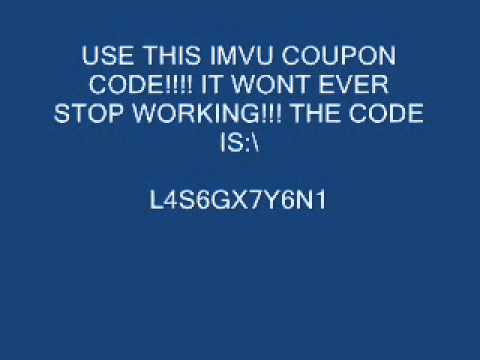 how to enter imvu coupon codes