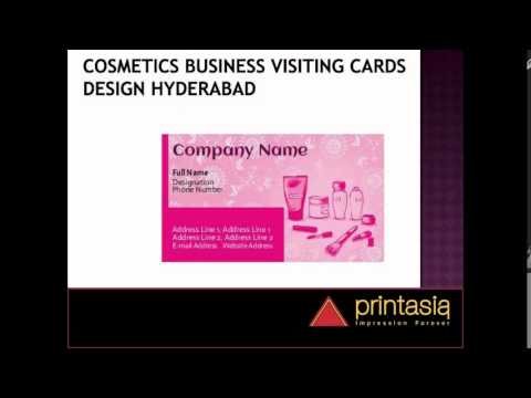 Cosmetics Business Visiting Cards Printasia Youtube