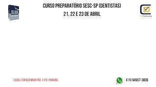 Baixar Dúvidas Processo Seletivo SESC-SP (Dentistas)