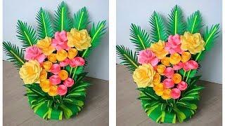 paper flower bouquet 1604 / make paper floral decoration / diy flower bouquet paper