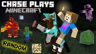 Chase plays MINECRAFT!  Random Gameplay w/ a 4 Year Old!  (FGTEEV)