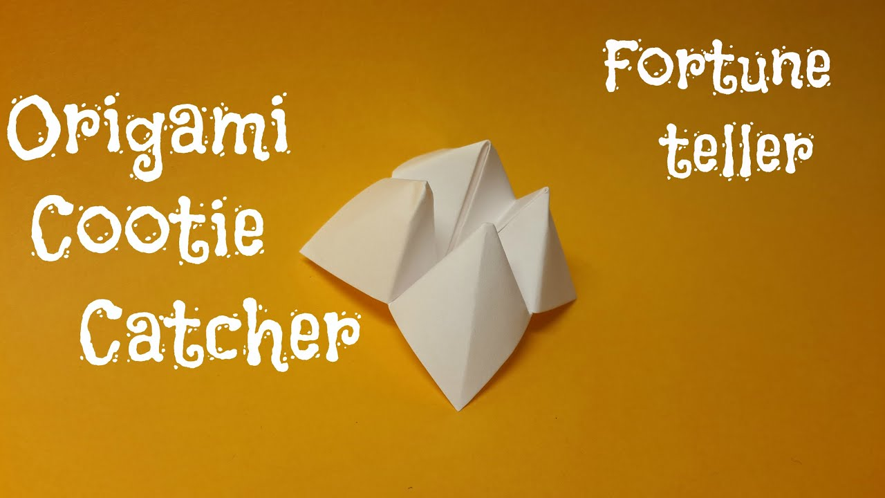 Origami Cootie Catcher - Fortune teller - YouTube - photo#15
