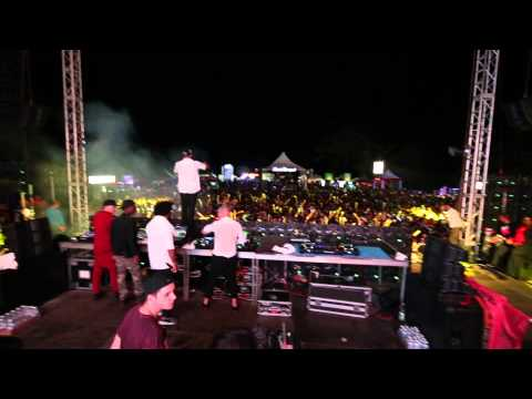MAJOR LAZER - ROLL THE BASS LIVE KINGSTON JAMAICA NEW SONG PREMIERE