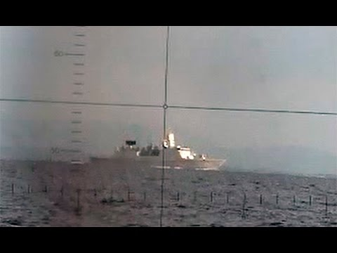 Dutch frigate spotted during trials by Norwegian submarine