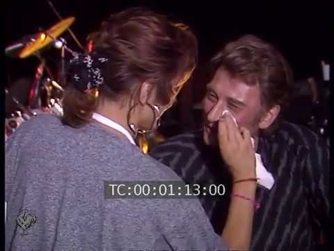 Johnny Hallyday interview pendant répetitions Bercy 1987