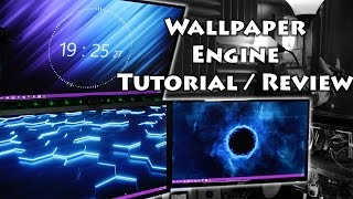 Wallpaper Engine Tutorial / Review / Performance Tests!