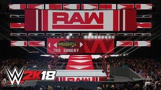 WWE 2K18 - Both Raw Arenas (WrestleMaina 34 This Sunday)   Custom Arena Creations